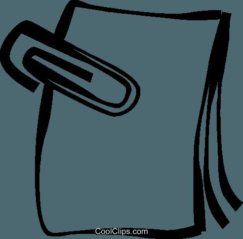 Büroklammer clipart  Büroklammer mit Papieren Vektor Clipart Bild -vc021767-CoolCLIPS.com