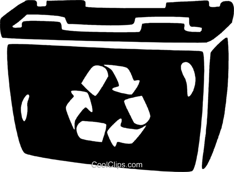 recycle bin Royalty Free Vector Clip Art illustration vc021831