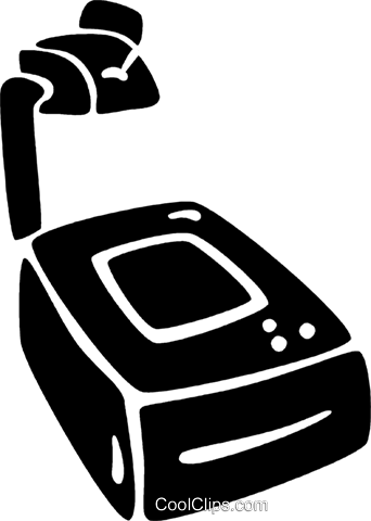 overhead projectors Royalty Free Vector Clip Art illustration vc021876