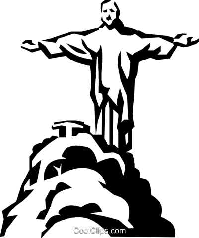 Brazil monument Royalty Free Vector Clip Art illustration vc022128