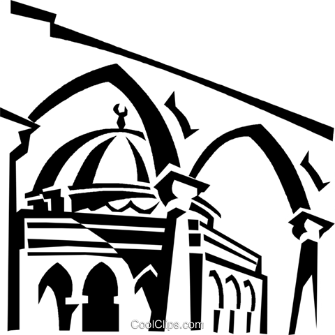 Gold Dome, Jerusalem Royalty Free Vector Clip Art illustration ...
