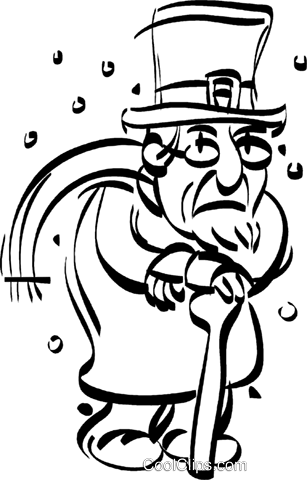 Christmas Carol Scrooge Clipart.Scrooge Royalty Free Vector Clip Art Illustration Vc022294