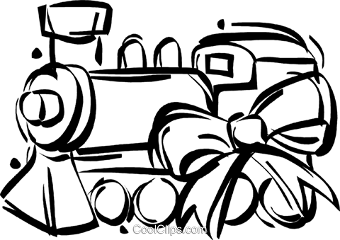 Toy Train Royalty Free Vector Clip Art Illustration Vc022312