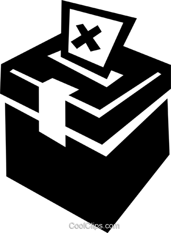 Ballot box Royalty Free Vector Clip Art illustration vc022435