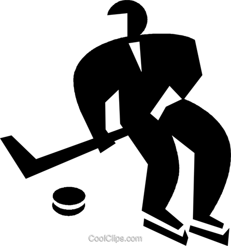 hockey player Royalty Free Vector Clip Art illustration vc022582