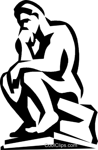 thinker Royalty Free Vector Clip Art illustration vc022703