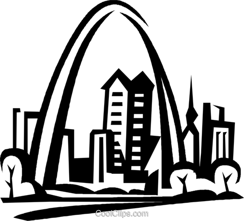 Gateway Arch, St. Louis Royalty Free Vector Clip Art ...