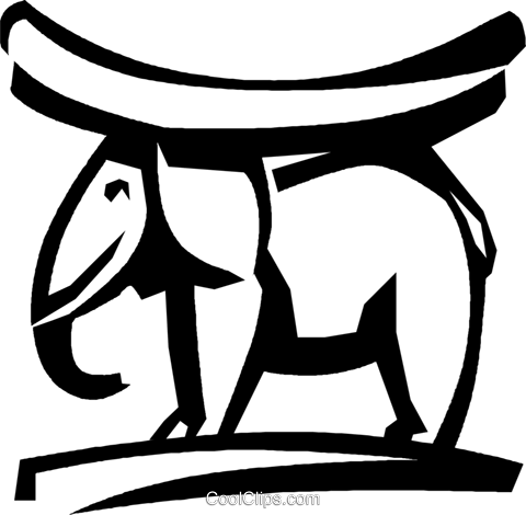 elephant Royalty Free Vector Clip Art illustration vc022775