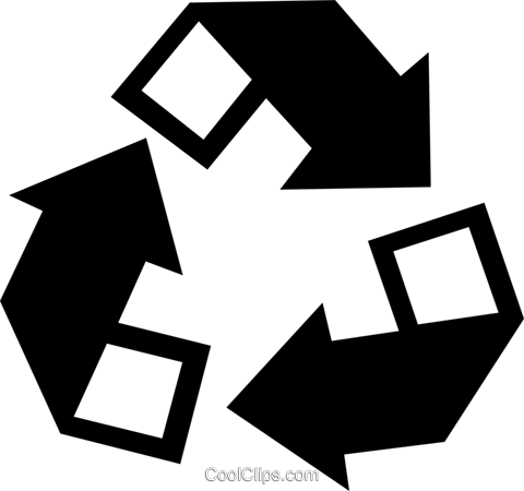 recycle symbol Royalty Free Vector Clip Art illustration vc022911