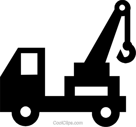 tow truck Royalty Free Vector Clip Art illustration vc022917