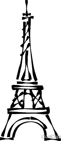 Eiffel Tower Royalty Free Vector Clip Art illustration vc023022