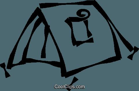 Camping Tent Royalty Free Vector Clip Art Illustration