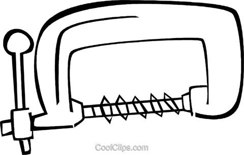 clamps Royalty Free Vector Clip Art illustration vc023478