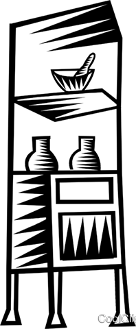 hospital shelves Royalty Free Vector Clip Art illustration vc023695