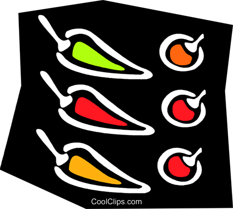 peppers Royalty Free Vector Clip Art illustration vc023756