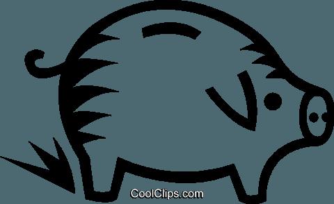 Piggy Bank Royalty Free Vector Clip Art Illustration Vc023953