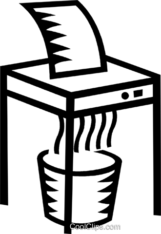 paper shredder Royalty Free Vector Clip Art illustration vc023957