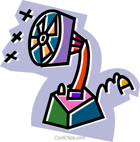 electric fan Royalty Free Vector Clip Art illustration vc024441