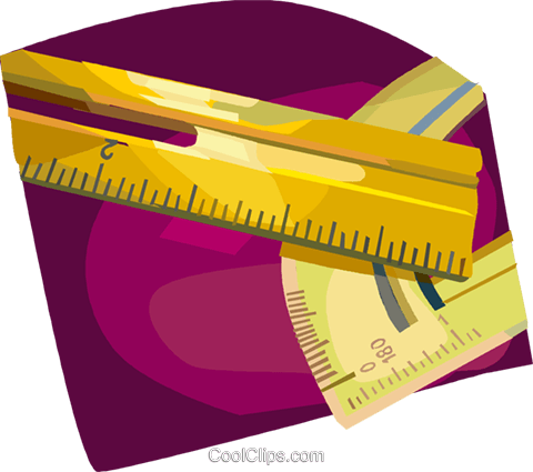 rulers Royalty Free Vector Clip Art illustration vc024851