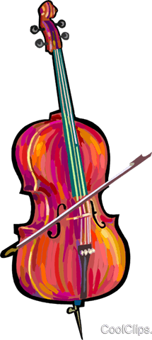 Cello Royalty Free Vector Clip Art illustration vc024871