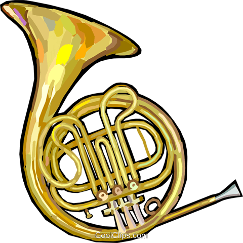 french horn royalty free vector clip art illustration vc024882 rh search coolclips com  french horn clipart free