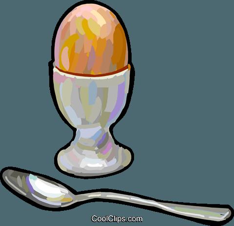 Hart gekochtes ei vektor clipart bild vc024921 - Eier hart kochen ohne anstechen ...