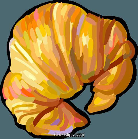 Croissant Royalty Free Vector Clip Art Illustration