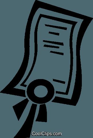 clip art certificate