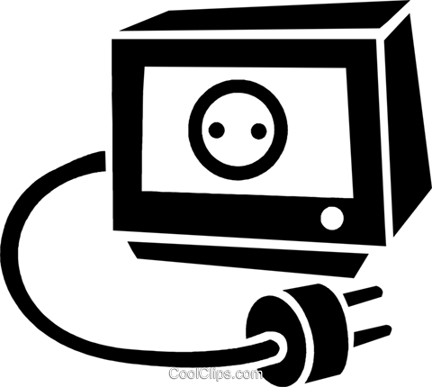 electric plug Royalty Free Vector Clip Art illustration vc025249
