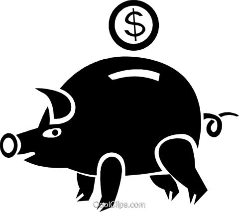 piggy bank Royalty Free Vector Clip Art illustration vc025267