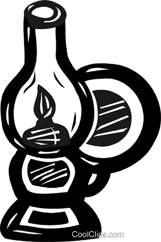 oil lamp Royalty Free Vector Clip Art illustration vc025284