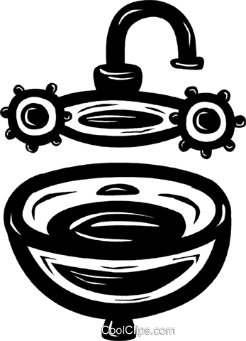 sink Royalty Free Vector Clip Art illustration vc025365