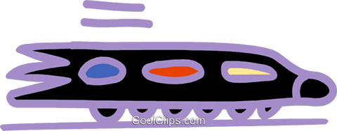 bullet train Royalty Free Vector Clip Art illustration vc025478