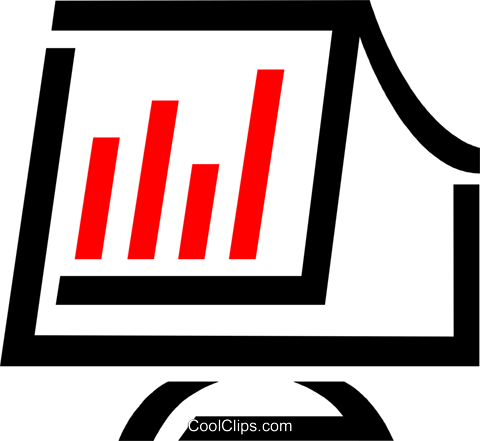 computer monitor Royalty Free Vector Clip Art illustration vc025521