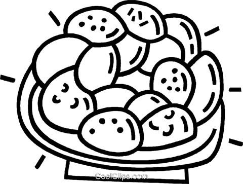 plate of cookies Royalty Free Vector Clip Art illustration vc025697