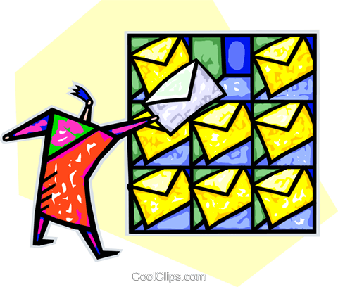 postal worker Royalty Free Vector Clip Art illustration vc025723