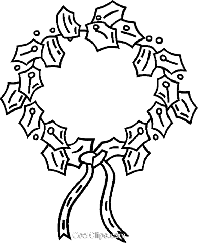 Christmas wreaths Royalty Free Vector Clip Art illustration vc025788