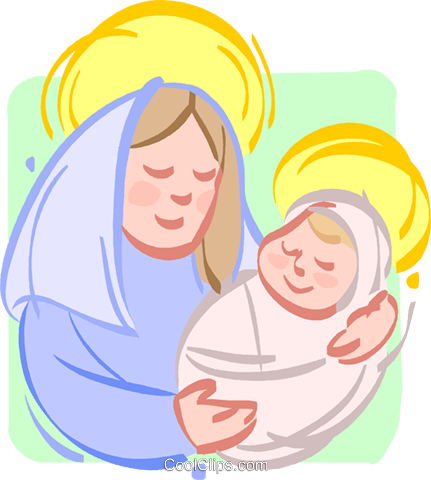 Blessed Virgin Mary with Baby Jesus - Best WEB Clipart
