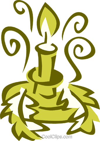Christmas candle Royalty Free Vector Clip Art illustration vc025900