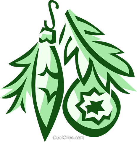 Christmas ornaments Royalty Free Vector Clip Art illustration vc025901