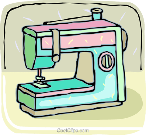 electric sewing machine royalty free vector clip art illustration rh search coolclips com sewing machine clipart image sewing machine clip art free