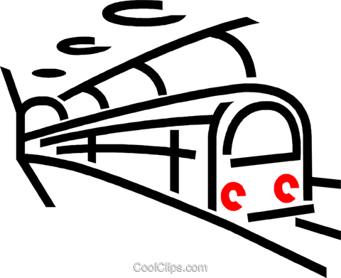 subway train Royalty Free Vector Clip Art illustration vc026368