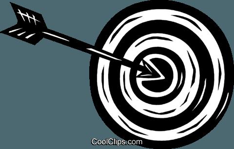 Bogenschießen Vektor Clipart Bild Vc026401 Coolclips Com