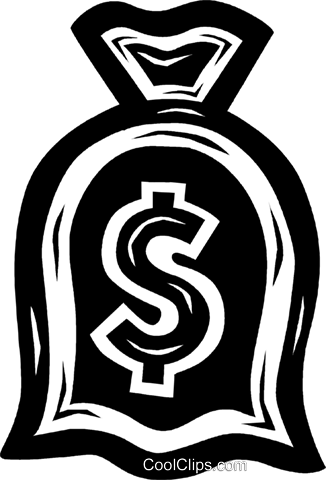 money bag Royalty Free Vector Clip Art illustration vc026483