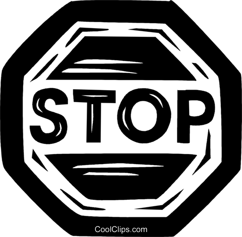 stop sign Royalty Free Vector Clip Art illustration vc026543