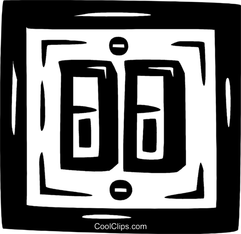 light switches Royalty Free Vector Clip Art illustration vc026552