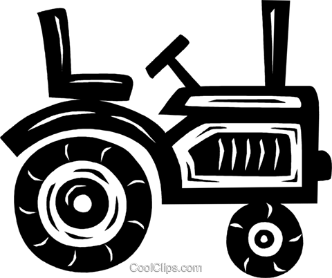 tractor Royalty Free Vector Clip Art illustration vc026554