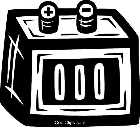 car battery Royalty Free Vector Clip Art illustration vc026555