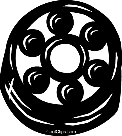 ball bearings Royalty Free Vector Clip Art illustration vc026556
