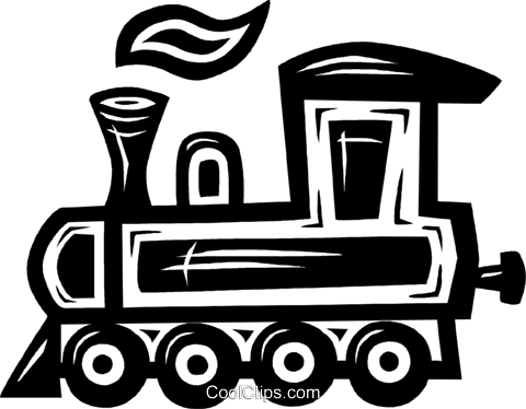 train engine Royalty Free Vector Clip Art illustration vc026561